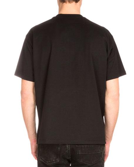 Map & Cobra Graphic-Print Short-Sleeve T-Shirt, Black