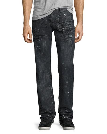 Barracuda Proton Splatter Denim Jeans, Black