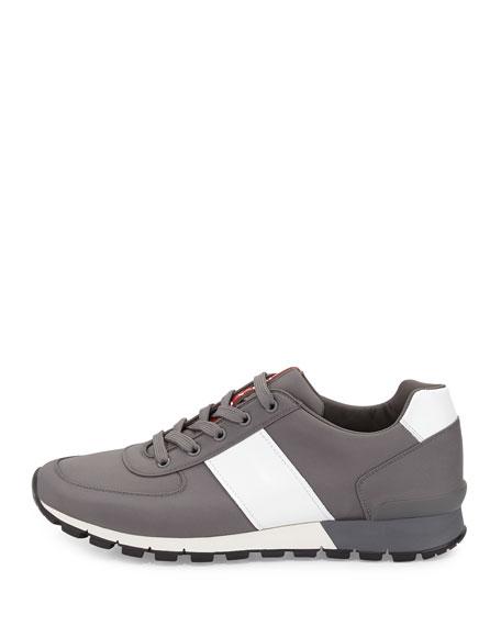 Leather & Nylon Running Sneaker