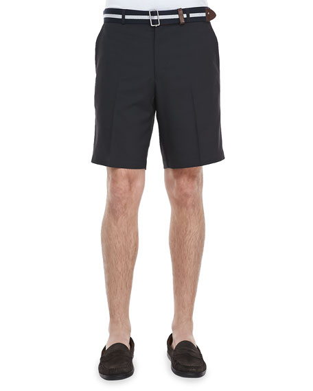 Salem High Drape Performance Shorts, Black