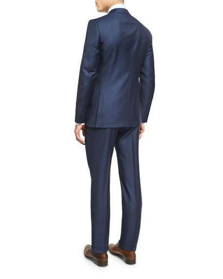 Graph Check Wool Two-Piece Suit