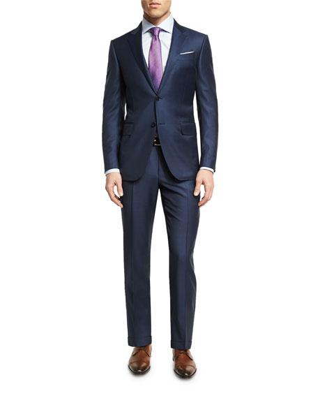 Ermenegildo Zegna Graph Check Wool Two-Piece Suit