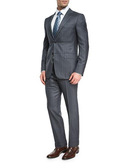Tonal-Stripe Trofeo® 600 Two-Piece Suit, Gray