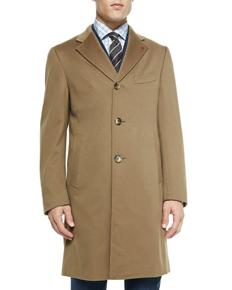 Isaia Aquaspider Single-Breasted Overcoat