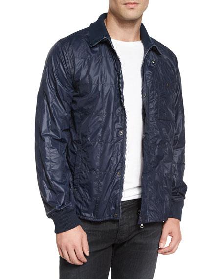 John Varvatos Star USA Nylon Quilted Jacket, Navy