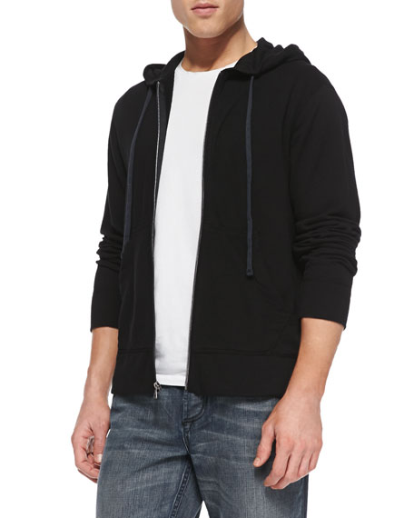 James Perse Cotton-Knit Zip Hoodie