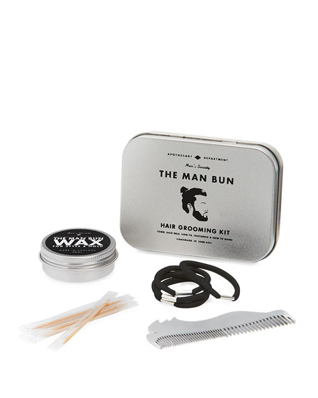 Men's Society The Man Bun Hair Kit