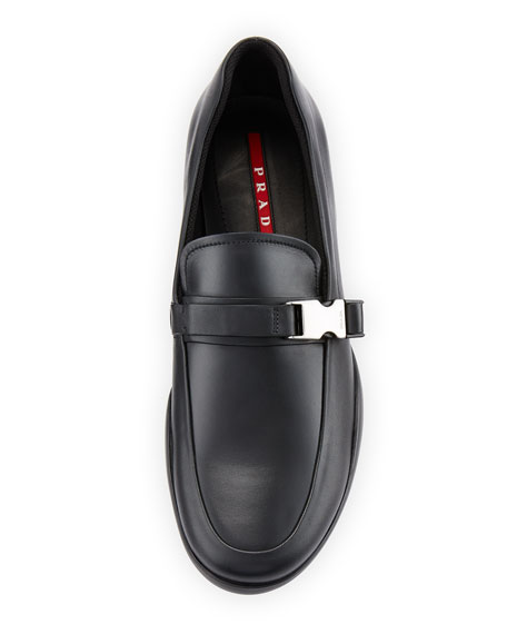 Buckled Loafer, Black