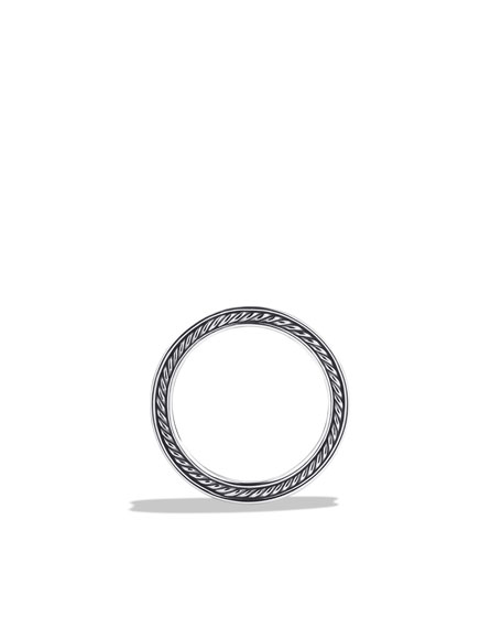 Naturals Sea Urchin Narrow Band Ring with Black Diamonds