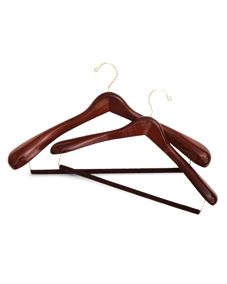 The Hanger Project Luxury Wooden Suit Hanger, Large