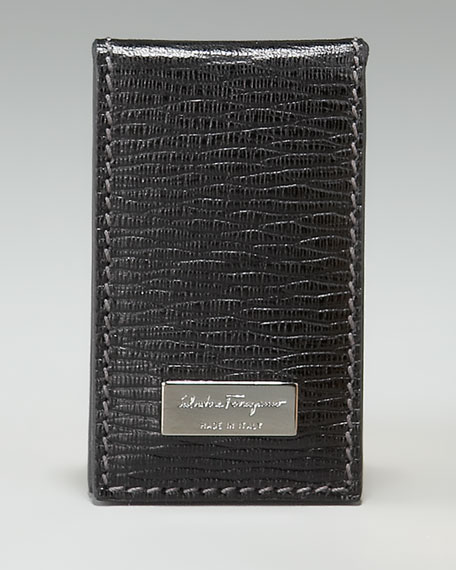 Revival Leather Money Clip, Black