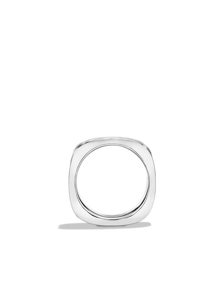 Sculpted Cable Narrow Square Band Ring