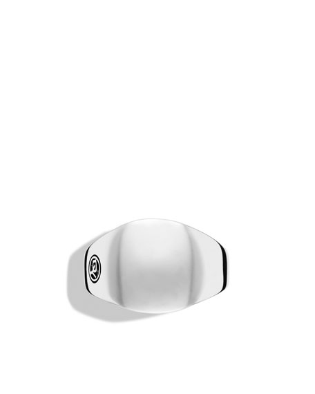 DY Logo Small Signet Ring