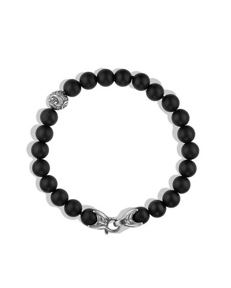 Spiritual Bead Bracelet, Black Onyx, 8mm