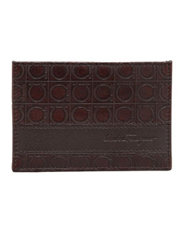 Salvatore Ferragamo Gamma Card Case, Brown