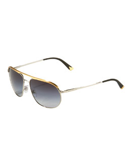 Dolce & Gabbana Thin Metal Aviators, Golden
