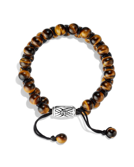 Spiritual Beads Two-Row Bracelet with Tiger's Eye