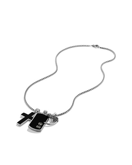 David Yurman Amulet Necklace, Black Onyx