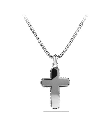 Iron Wood Cross on Chain