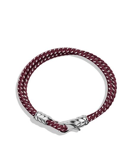 Chevron Two-Row Bracelet in Burgundy