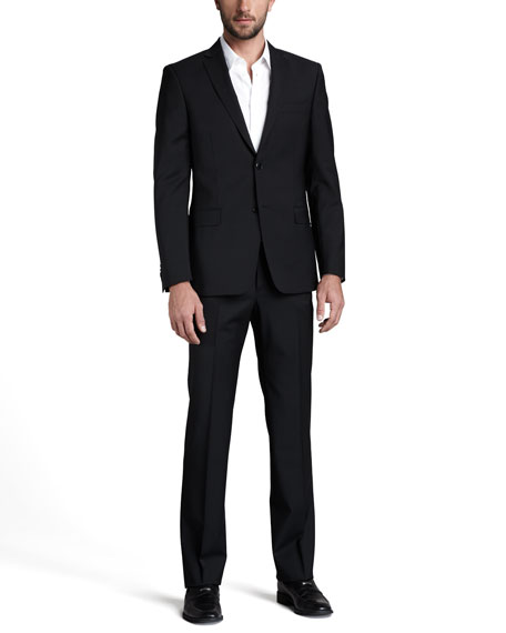 BLK BASIC CITY FIT NTCH SUIT