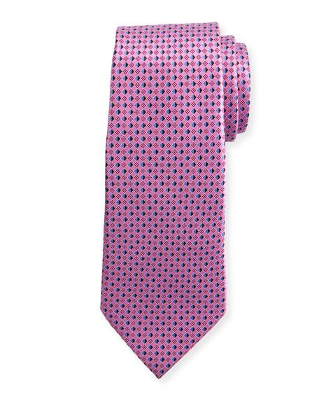 3D Micro-Diamond Neat Tie, Pink