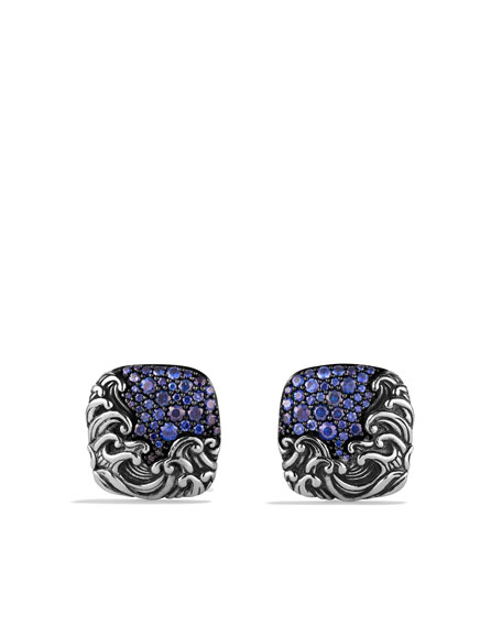 Waves Cuff Links with Sapphires