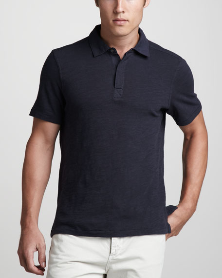 Flame Jersey Polo, Navy