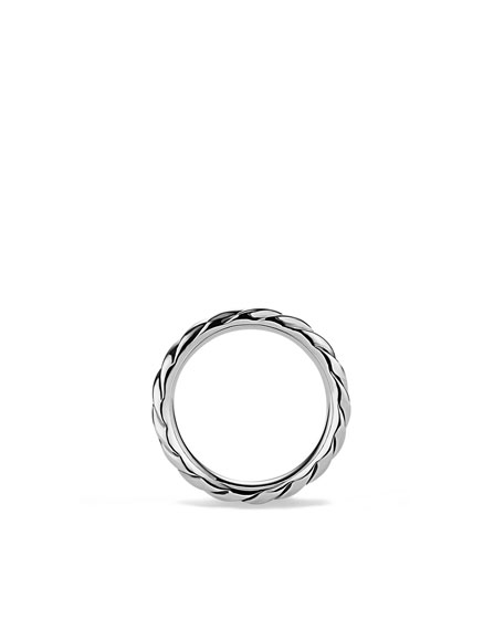 Cable Narrow Band Ring