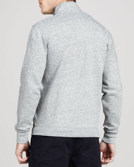 Check-Trim Fleece Zip Jacket