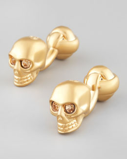 Alexander McQueen Golden Skull Cuff Links