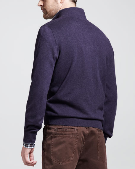 Long-Sleeve Merino Polo Shirt