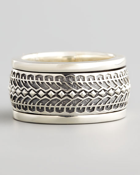Silver Tire Spinner Ring