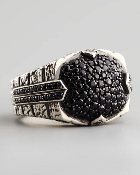 Pave Black Sapphire Ring