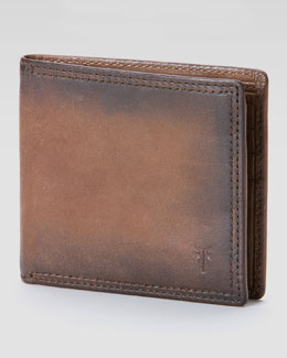 Frye James Leather Wallet, Taupe