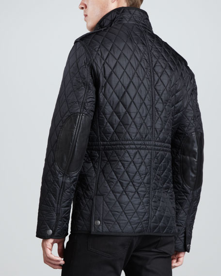 Quilted Field Jacket, Black