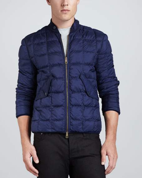 Quilted Bomber Jacket, Navy