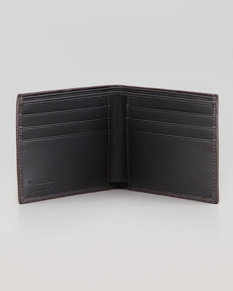 Revival Bi-Fold Leather Wallet, Gray