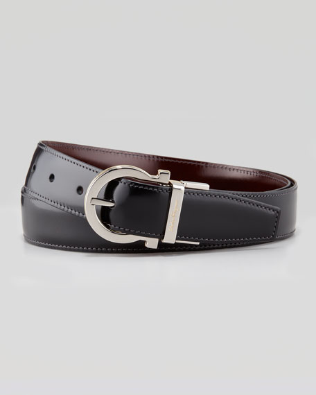 salvatore ferragamo 4 in 1 reversible gancini belt black