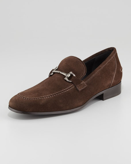Tapas Suede Bit Loafer, Brown