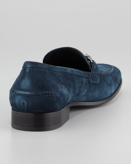Tappas Suede Bit Loafer, Blue