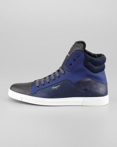 Stephen Hi-Top Sneaker, Navy Multi