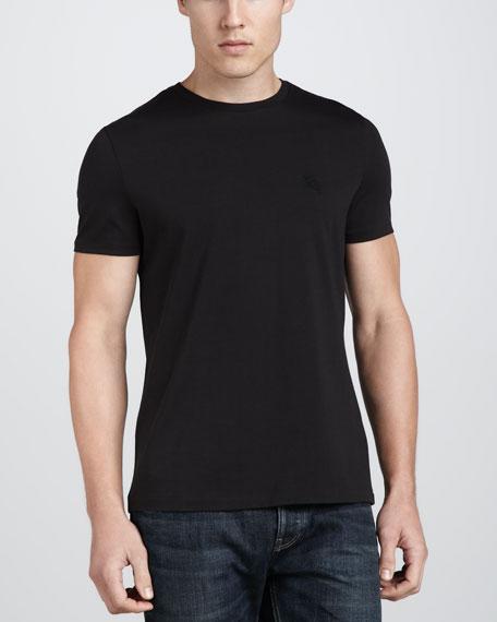 Short-Sleeve Jersey Tee, Black