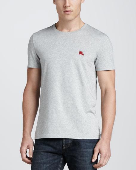 Short-Sleeve Jersey Tee, Gray