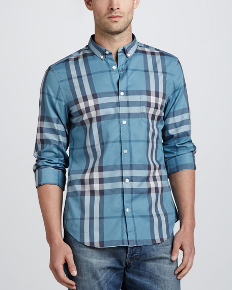 Classic Check Sport Shirt, Dusty Thistle