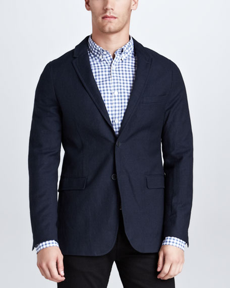 Two-Button Sport Coat, Navy