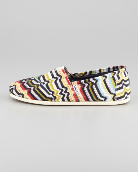 Printed Canvas Slip-On