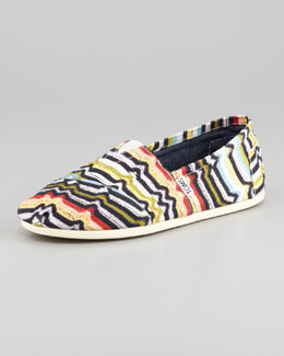 TOMS Printed Canvas Slip-On