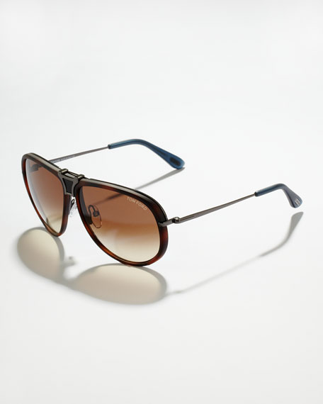 Robbie Interchangable Sunglasses, Tortoise/Mattie Gray