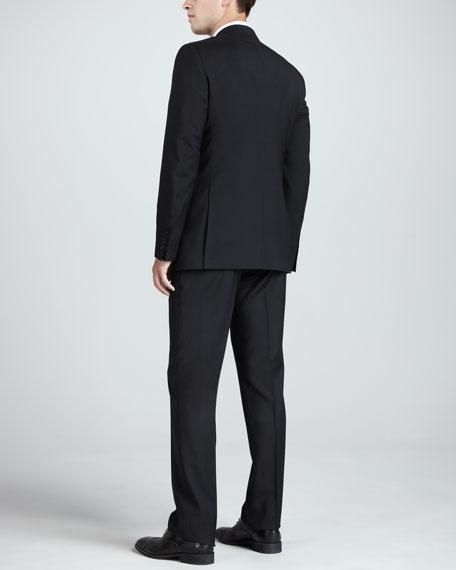 Modern Wool Suit, Black